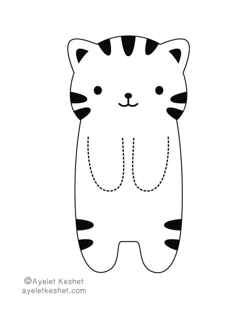 Printable DIY kawaii bookmark - cat class decorations DIY