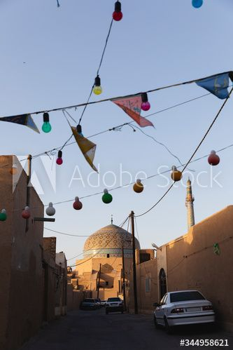 Street with the mosque at the end #AD , #Street, #mosque