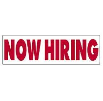 now hiring sign template