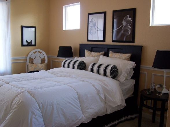 Guest Bedroom, It all started with a paint color mistake.  It looked yellow instead of the beige I wanted.  I didnt want to go in a pastel d...