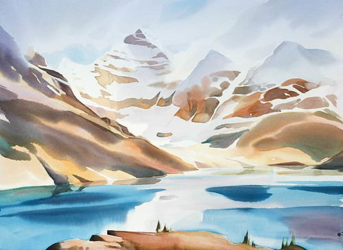 Lake Mcarthur N 2 Watercolor Pictures Watercolor Landscape