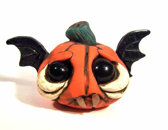 Pumpkin Bat Pat desk buddy Covington by CovingtonCreations on Etsy