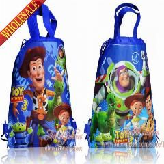 Set of 4 Winnie the Pooh Drawstring Backpack School Bag,Party Favor-Random