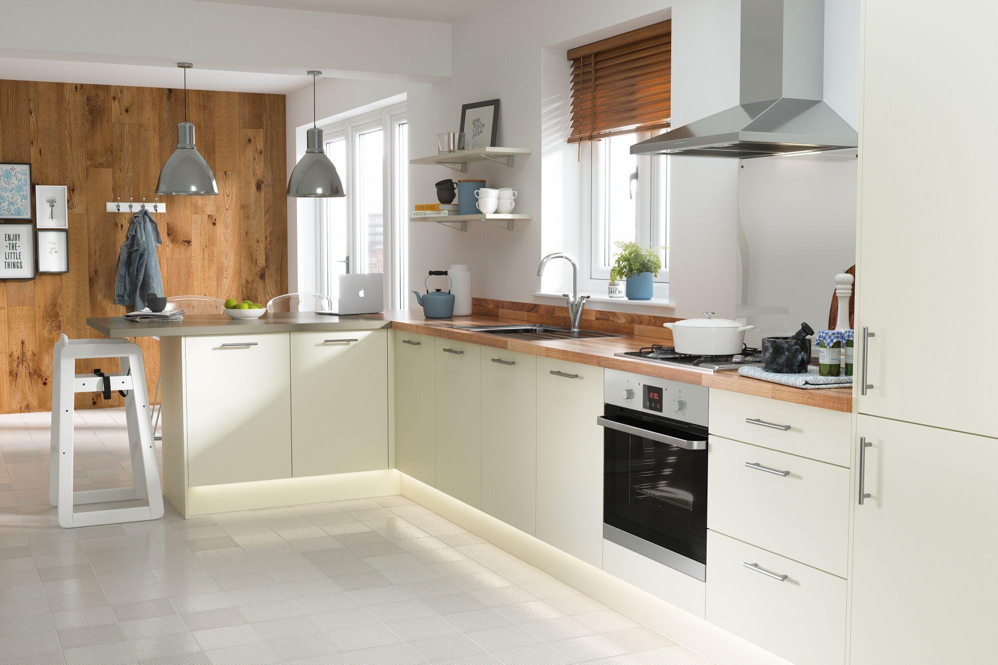 Slab Kitchen in Cream Kitchen Wren kitchen, Kitchen