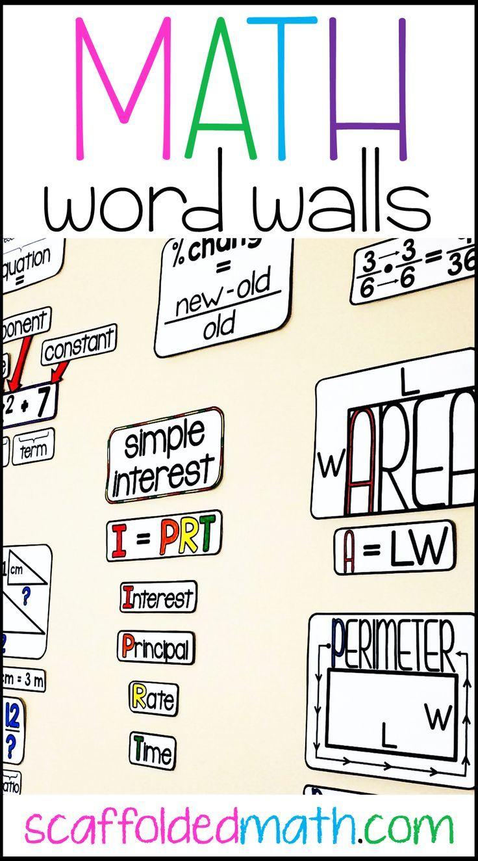 5 Ways Math Word Walls Have Changed My Teaching