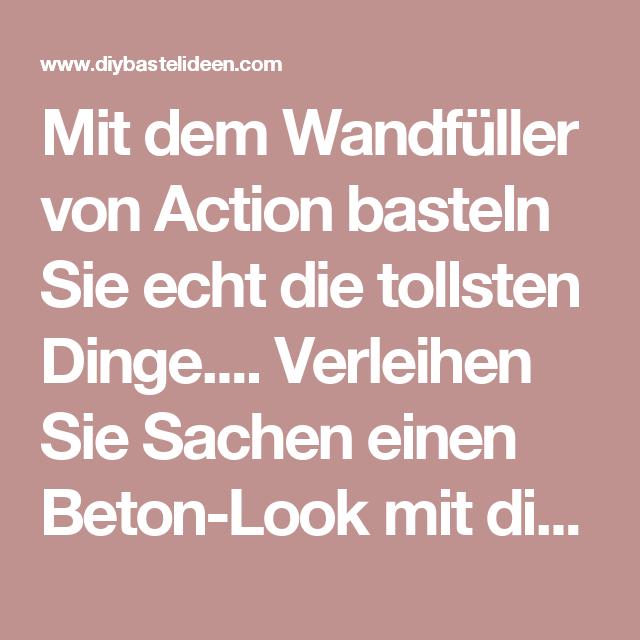 Mit Dem Wandfuller Von Action Basteln Sie Echt Die Tollsten Dinge