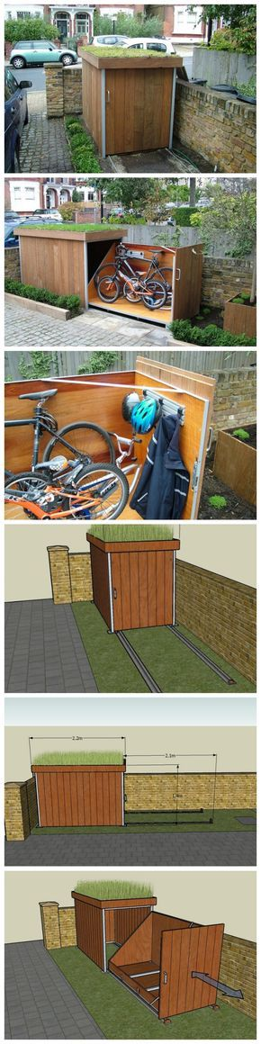 how to build a bike storage shed bikes rangement. Black Bedroom Furniture Sets. Home Design Ideas