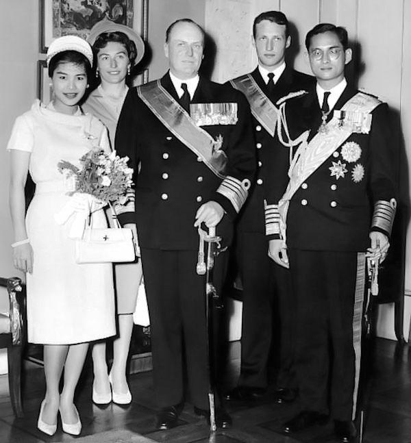 Thai King Bhumibol Adulyadej and Queen Sirikit