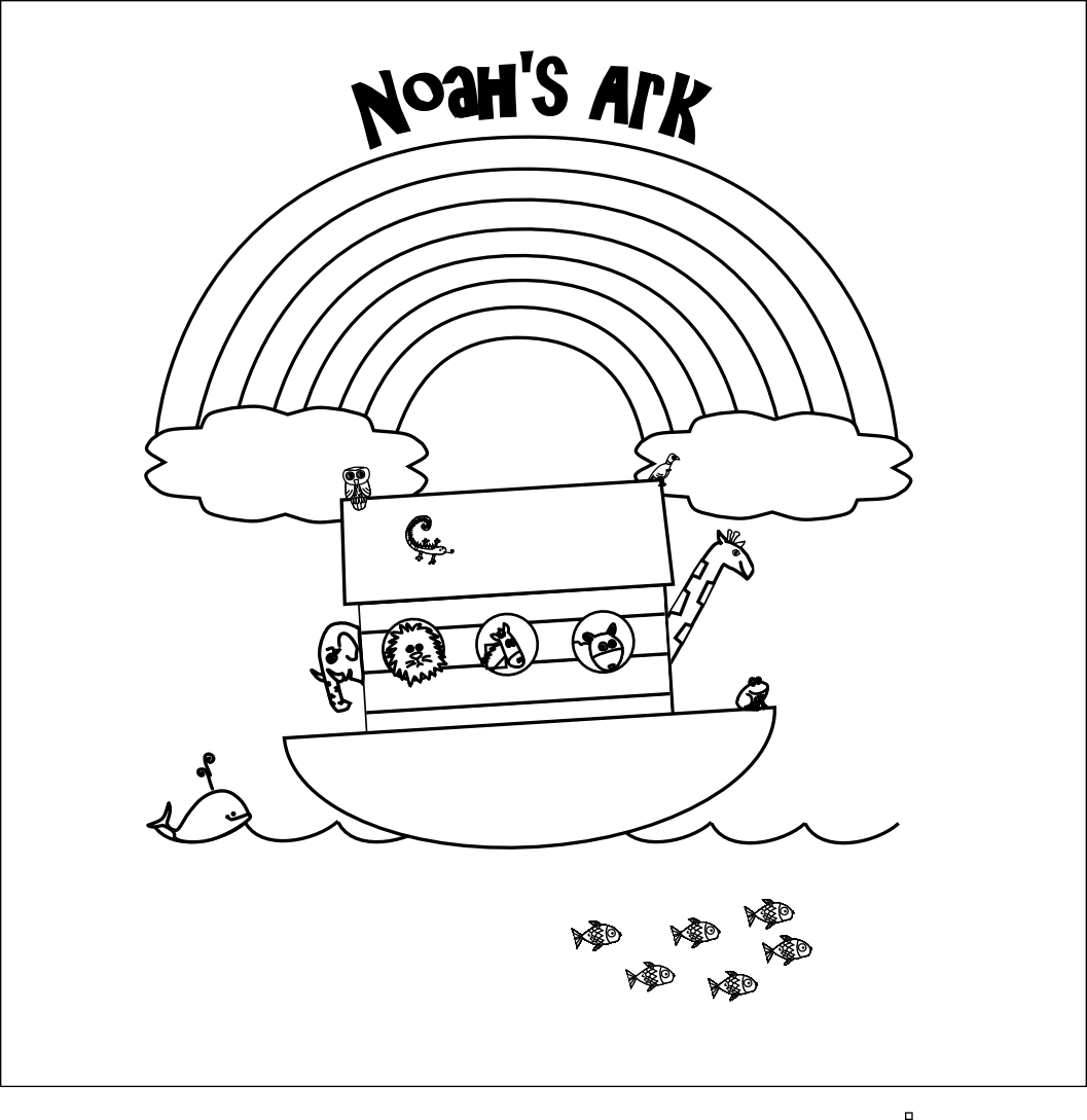 Childrens bible stories and coloring pages - Noah S Ark Coloring Page