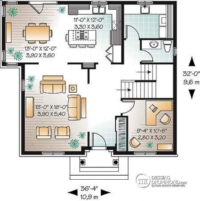 plan de maison avec walk-in