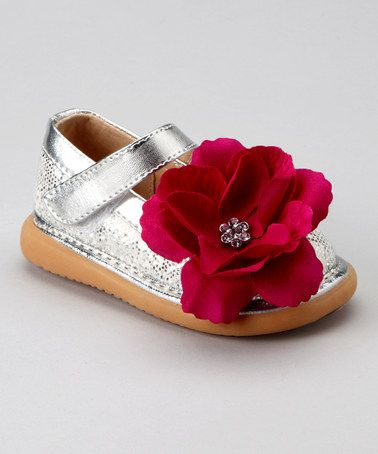 Hot Pink Sparkle Pickle Shoes squeaky Toddler Girls Shoes
