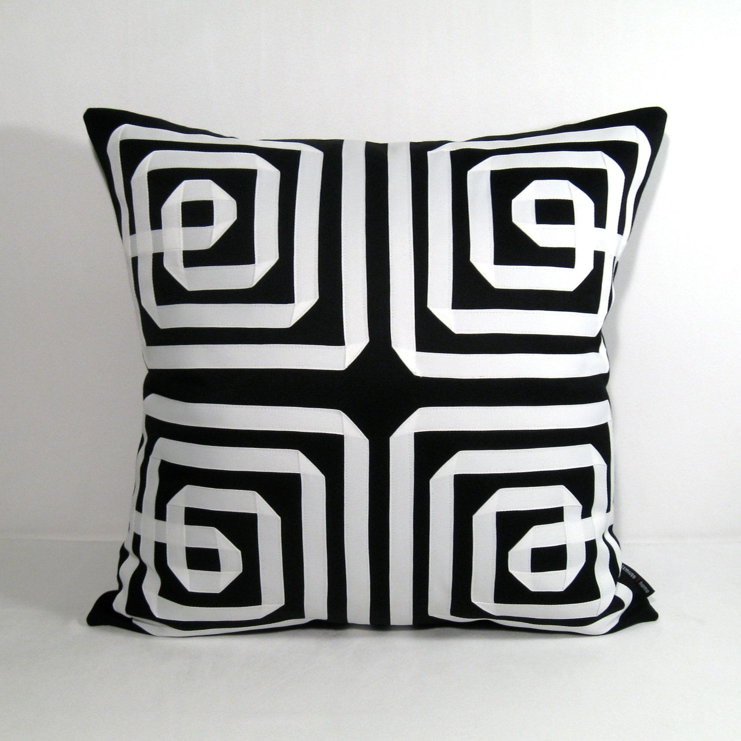 Black White Pillow Cover Decorative Outdoor Cushion Geometric