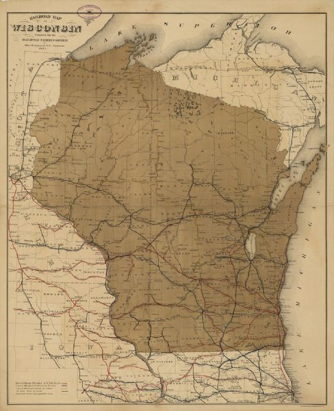 Railroad Map of Wisconsin | Menomonie wisconsin, Railway ... on wheeling & lake erie route map, union pacific route map, virginia & truckee route map, chicago great western route map, united route map, grand trunk route map, milwaukee railroad lines, air canada route map, milwaukee railroad in idaho, air china route map, georgia railroad route map, soo line railroad map, strasburg railroad route map, illinois central route map, mt. shasta route map, via rail canada route map, rock island route map, iberia route map, southern railway route map, dallas area rapid transit route map,