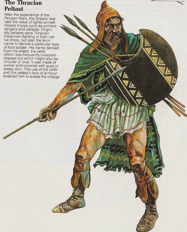 Orden de Batalla. Historia Militar: El Ejército de Alejandro Magno. Peltasta tracio.
