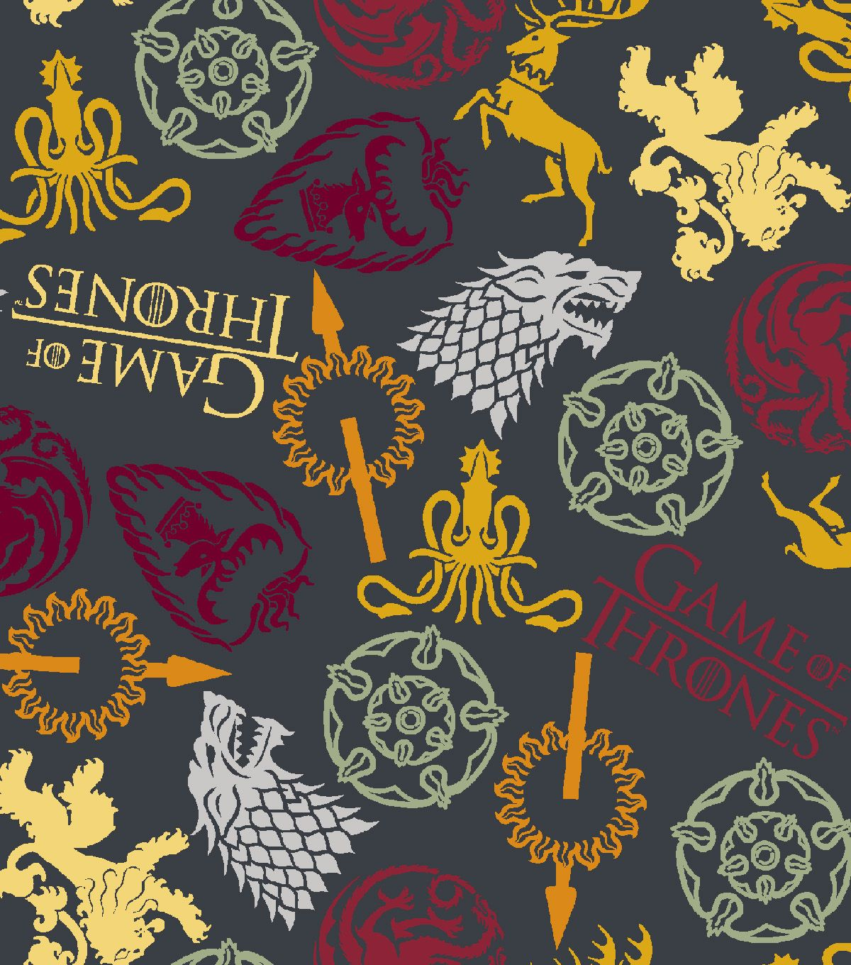 1 yard Springs HBO Game of Thrones Map of Westros  Fabric
