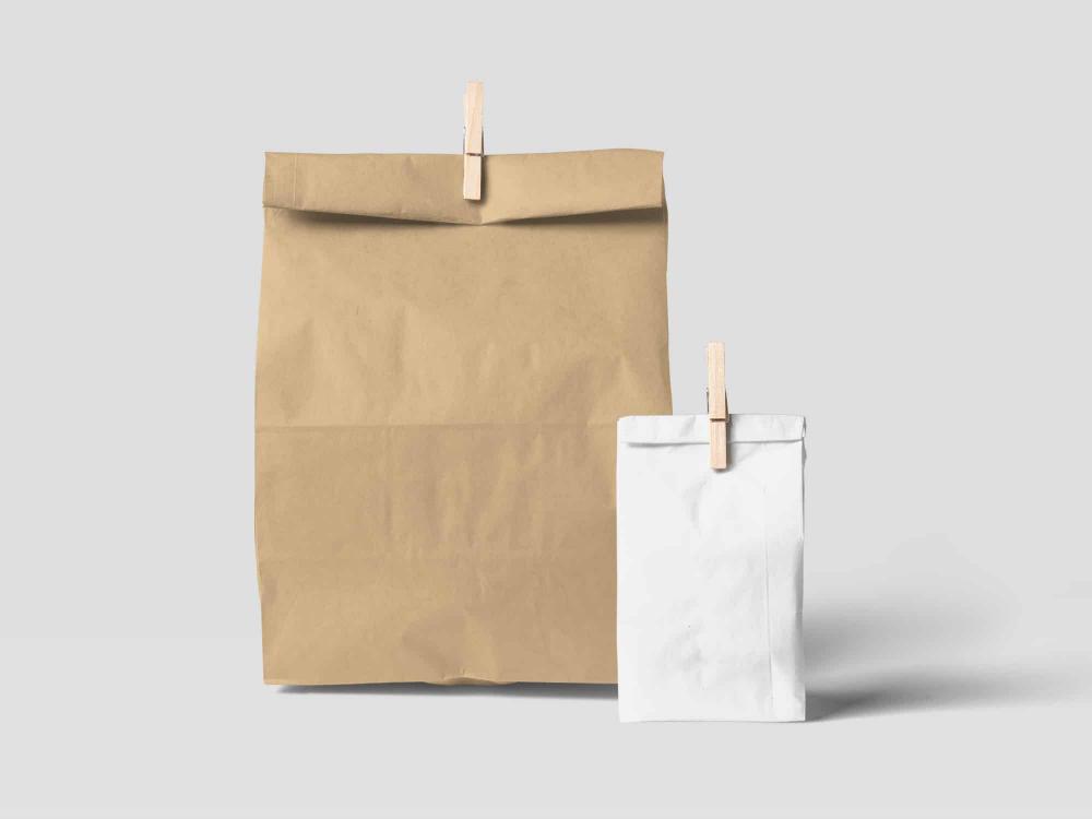 Free Paper Bag Mockup Psd Desain Kemasan Desain Grafis Kemasan