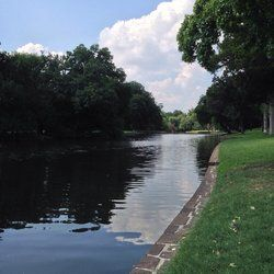 Turtle Creek - Dallas, TX, United States. Turtle creek looking upstream to the north.