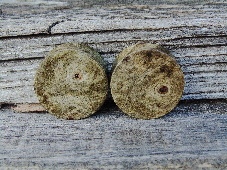 2020sale10 Off 28 5mm Top Grade Shimmering Silver Blue Buckeye Burl Wood Ear Plugs 1 1 8ths Size Organic Pair Of Gauges Buckeye Burl Burled Wood Burl