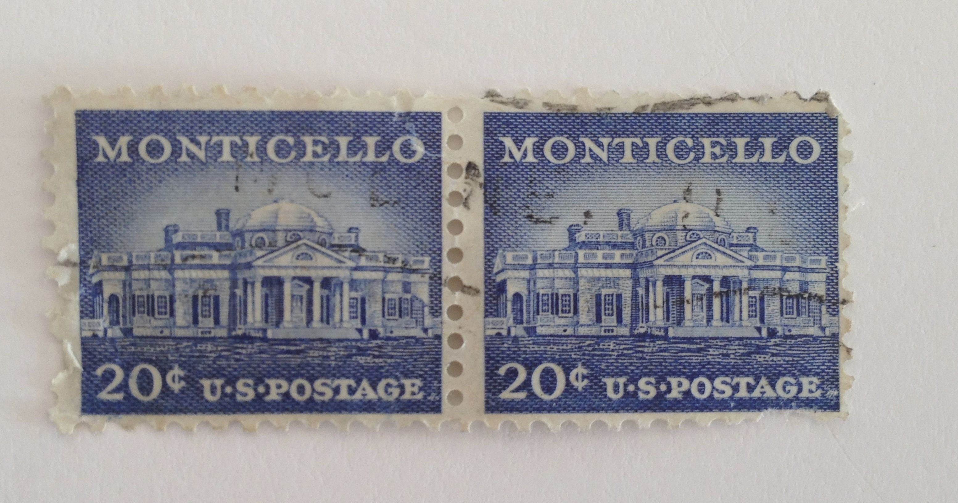 monticello cent us postage stamp stamp collection monticello 20 cent us postage stamp 2