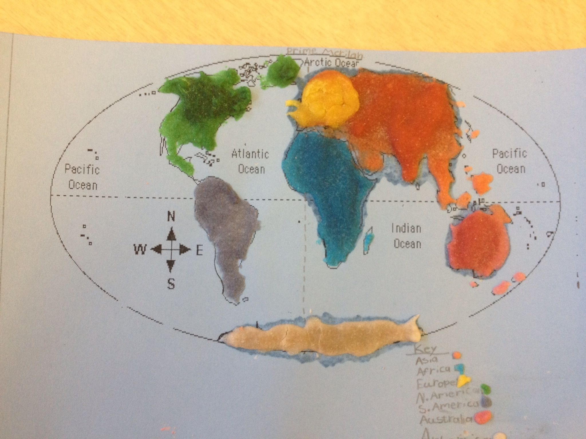 Students Made Salt Maps Of The World Using Premixed Flour