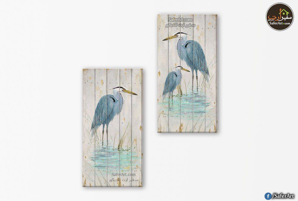 لوحات مودرن طيور فى الماء سفير ارت للديكور Blue Water Blue Color Color