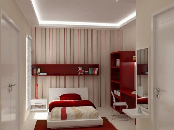 simple red interiors ideas for girls bedrooms bed room ideas