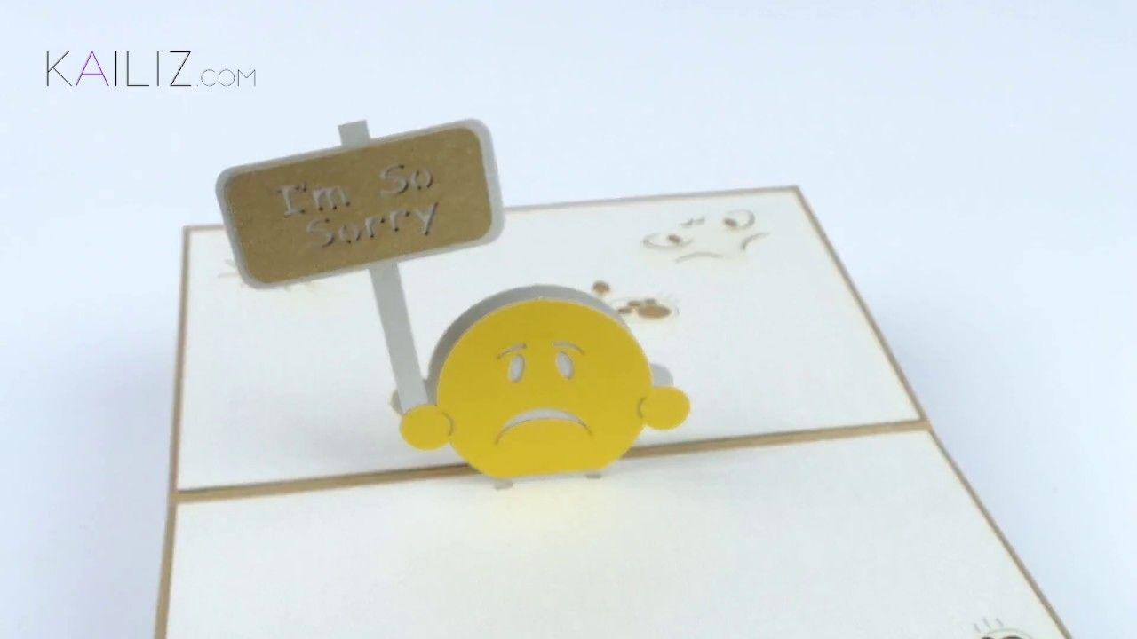 Kailiz im sorry 3d kirigami pop up apology card kailiz 3d kailiz im sorry 3d kirigami pop up apology card kristyandbryce Gallery