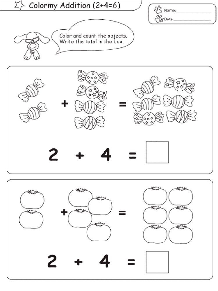 Addition Worksheets Addition worksheets, School coloring
