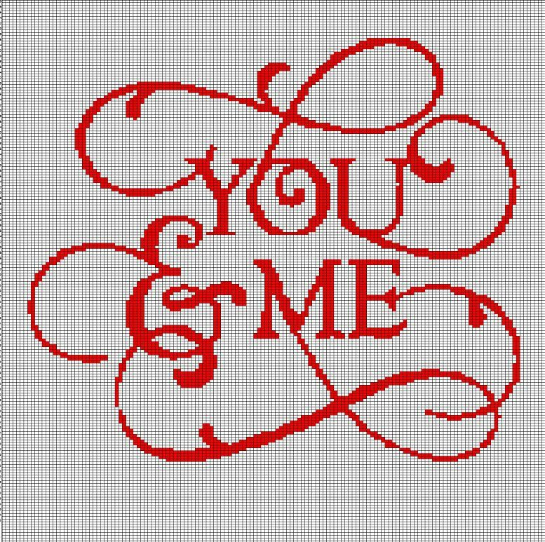 YOU+AND+ME+TEXT+CROCHET+AFGHAN+PATTERN+GRAPH | Crafts | Pinterest ...