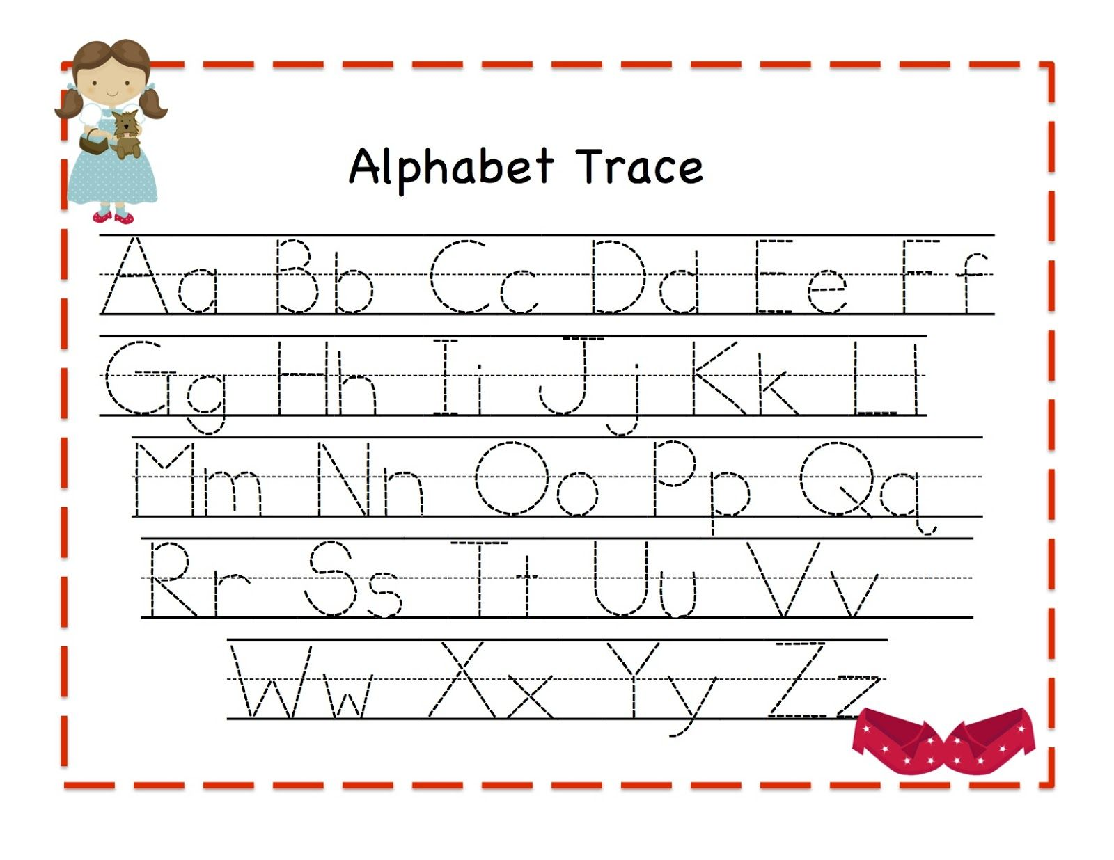 Traceable Alphabet Letters A To Z