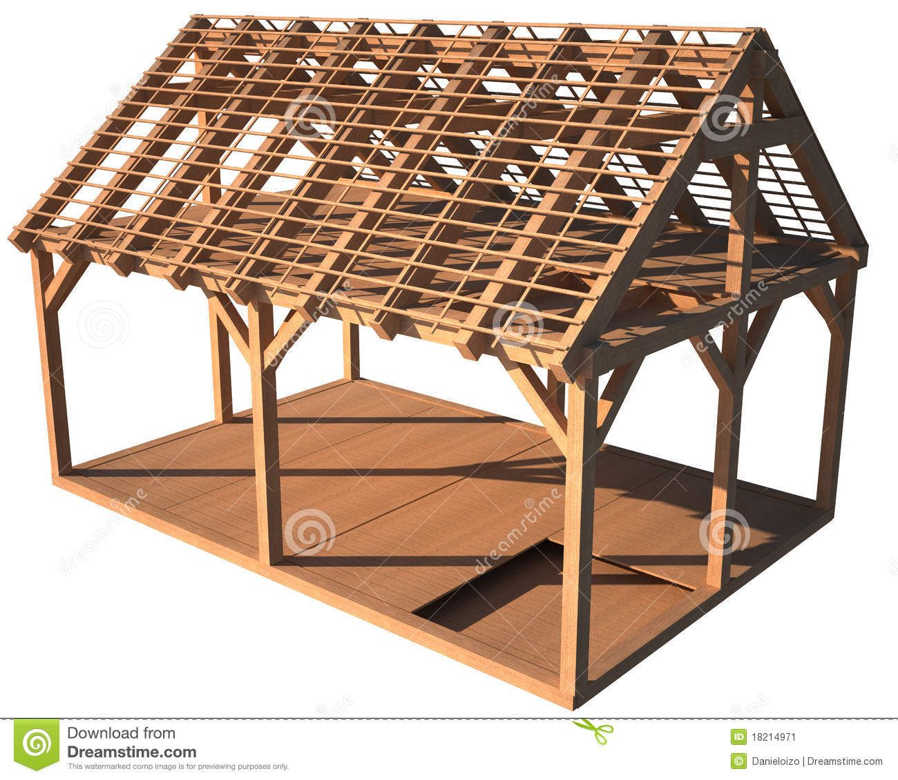 house-wood-structure-18214971.jpg (1300×1130)   Wood Fortress ref ...