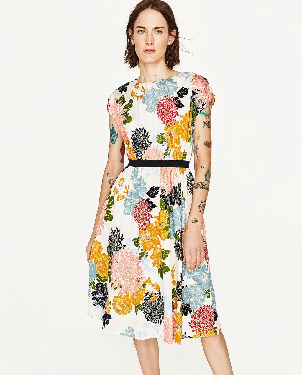 Image 4 de ROBE À IMPRIMÉ FLORAL de Zara
