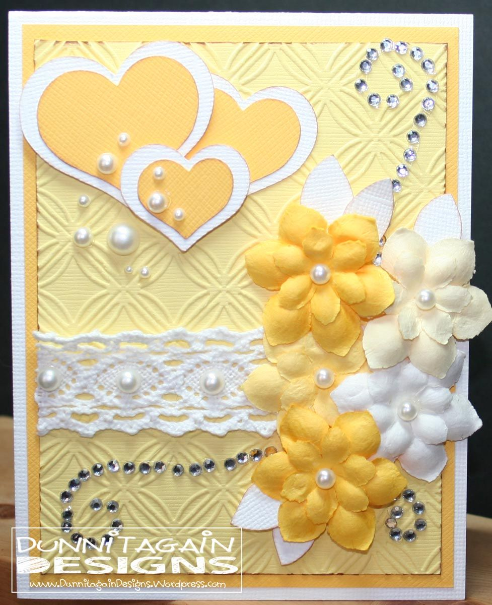 Fancy Yellow Card Beautiful Handmade Cards Cards Handmade Valentines Cards