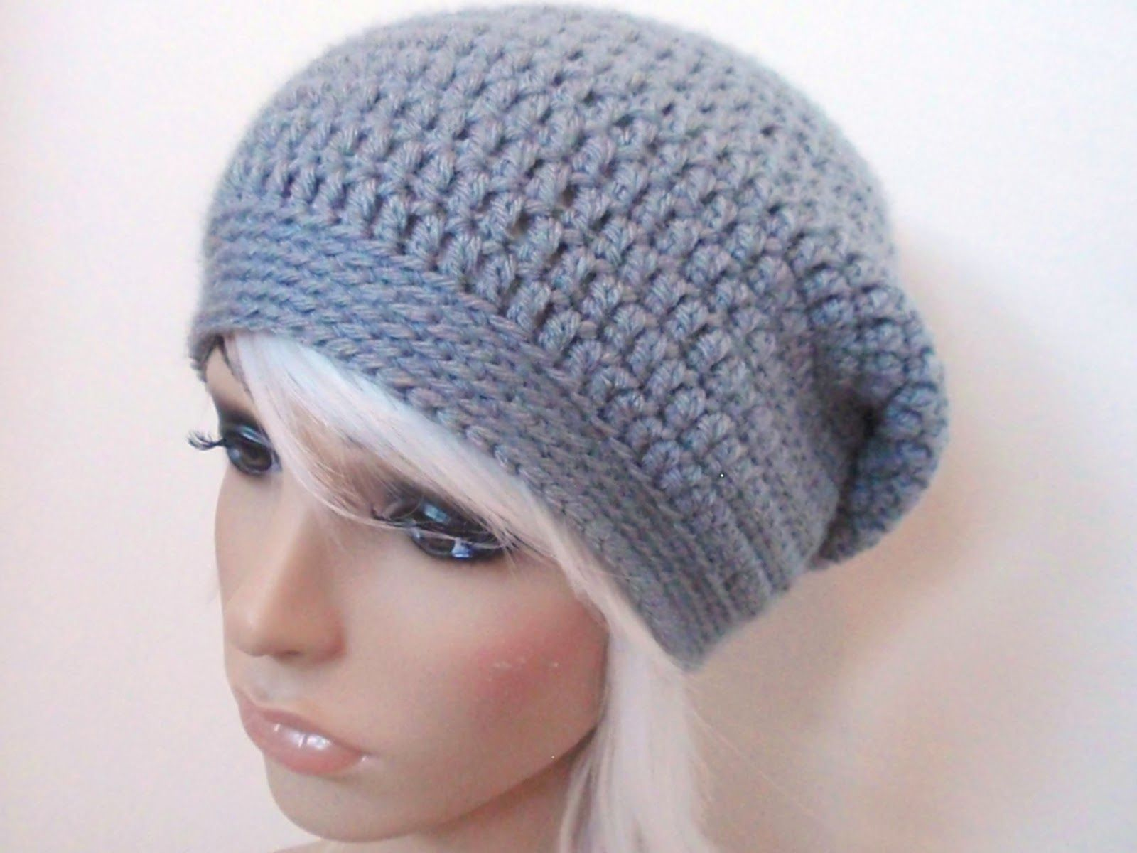 Crochet Slouchy Hat Pattern Free | Hookin\' for fun | Pinterest ...