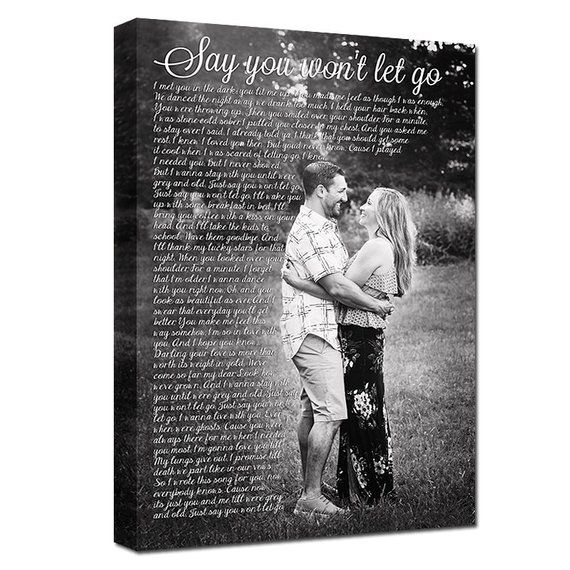 Keepsake Wedding Gifts: Gift For Him Cotton Anniversary Keepsake Photo Gift For
