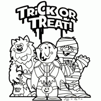 Trick Or Treat Free N Fun Halloween From Oriental Trading Halloween Coloring Halloween Coloring Pages Halloween Coloring Sheets