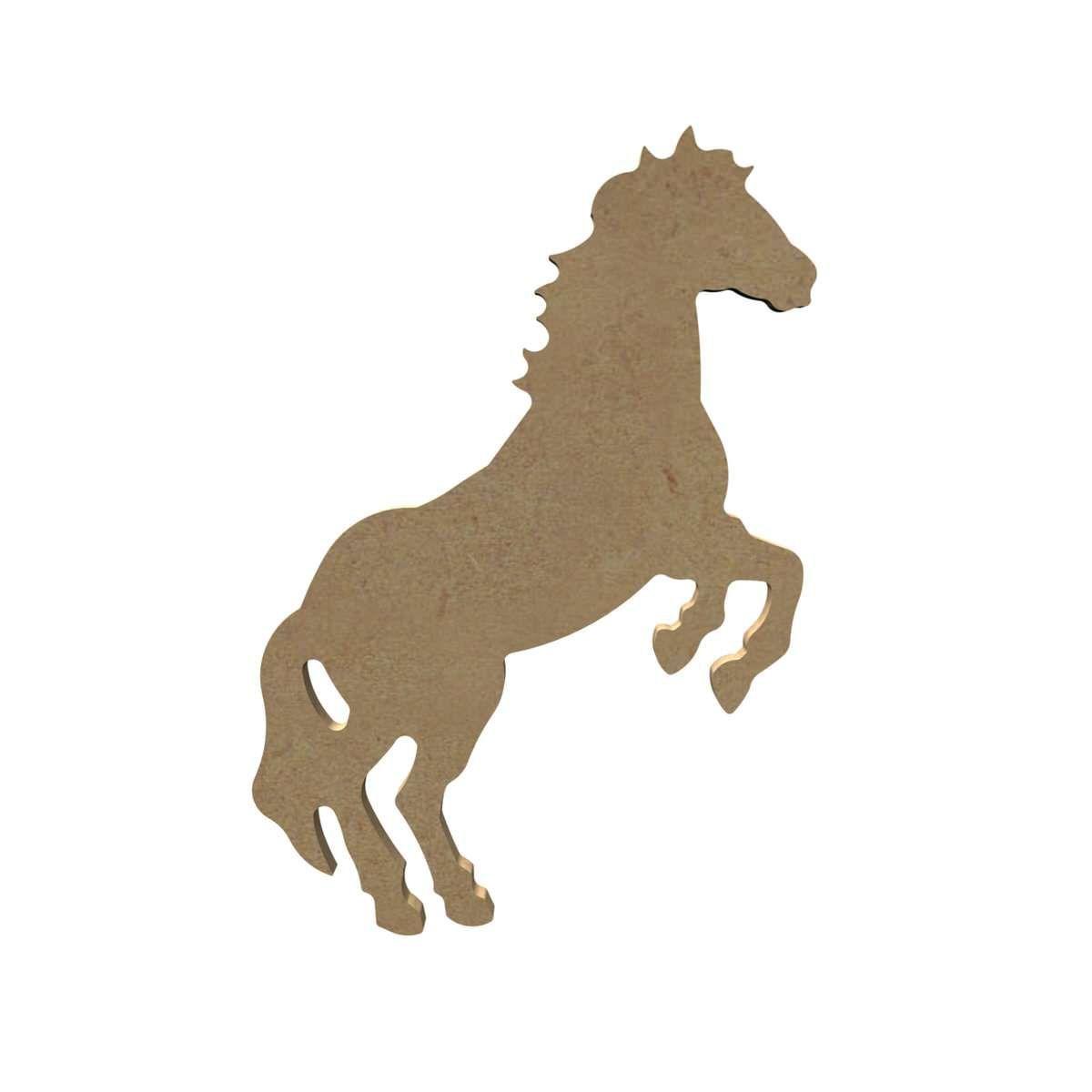 Cheval Cabre Support A Decorer En Bois Gomille Cheval Cabre Cheval De Bois Animaux