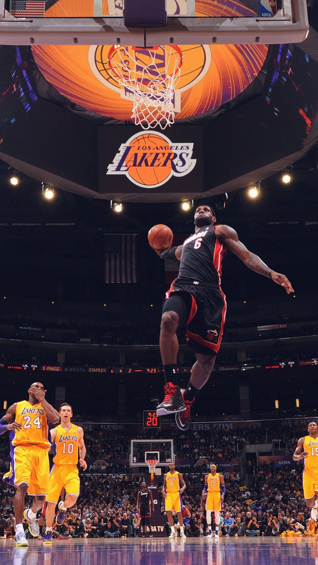 Download Cool Basketball Wallpaper Ios On High Quality Wallpaper On Hdwallpaper9 Com Iphone Andr In 2020 Lebron James Wallpapers Nba Basketball Dunks Nba Wallpapers