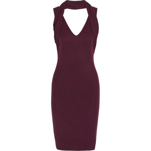 8a1baf3a4db Alexander McQueen Crepe-jersey dress (1
