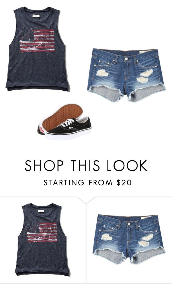 """Untitled #403"" by danieledepaula ❤ liked on Polyvore featuring Abercrombie & Fitch, rag & bone and Vans"
