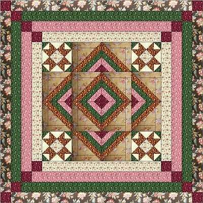 Quilting Kits 19160: Easy Quilt Kit Romantic Rose Medallion Pinks ... : easy quilt kits - Adamdwight.com
