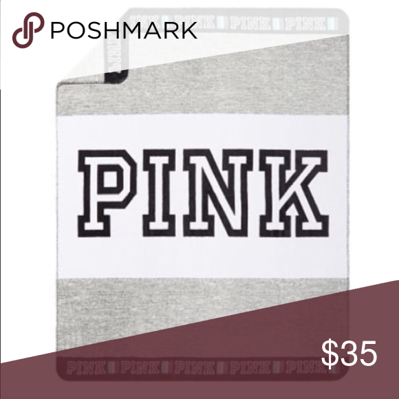 Brand New PINK Cozy Fleece Blanket - Grey Brand new, never used, still rolled. Exact one in picture. Very cozy! PINK Victoria's Secret Other