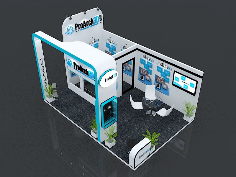 3d Exhibition Booth Design : Exhibition booth ds max model mtr side