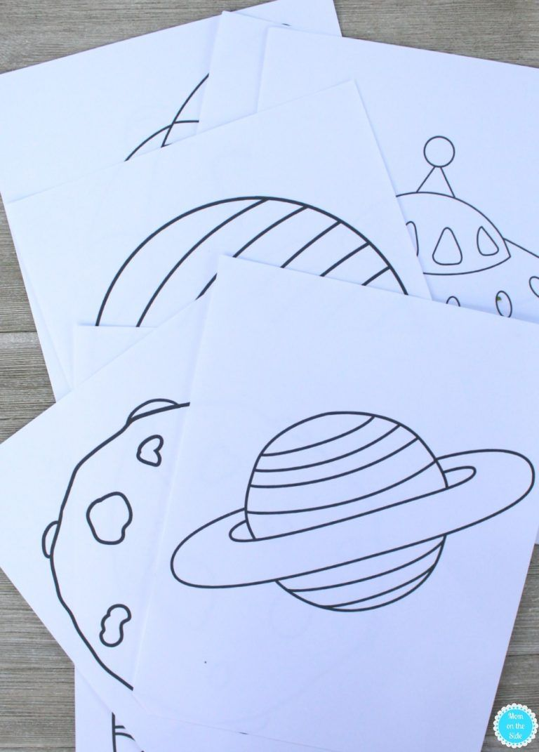 Printable Outer Space Coloring Book Mom On The Side Outer Space Crafts Space Crafts For Kids Space Preschool [ 1071 x 768 Pixel ]