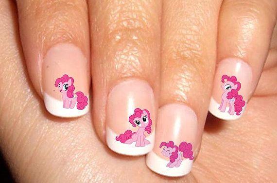 Pinkie Pie My Little Pony Nail Art Water Transfer Decal Waterslide Paper Sticker Handmade On Etsy 1 46