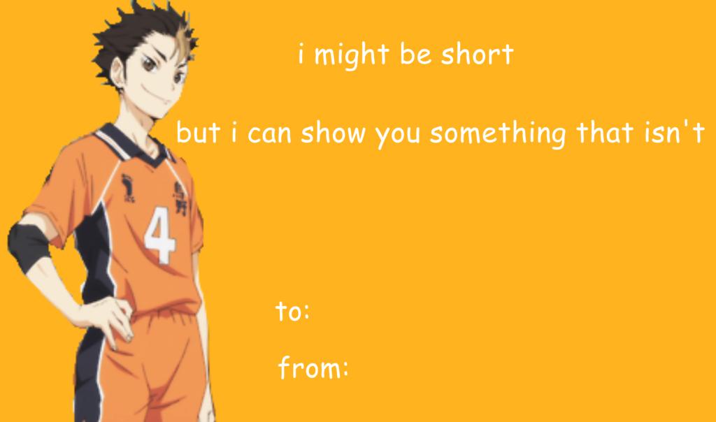 Nishinoya Yuu Valentine's Day Meme   Haikyuu!!   Nishinoya yuu