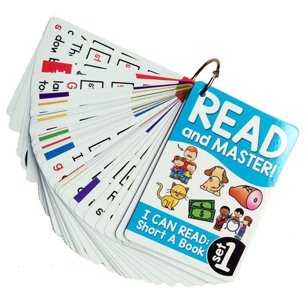 Set of 107 Educational Flash Cards for Learning Reading ...