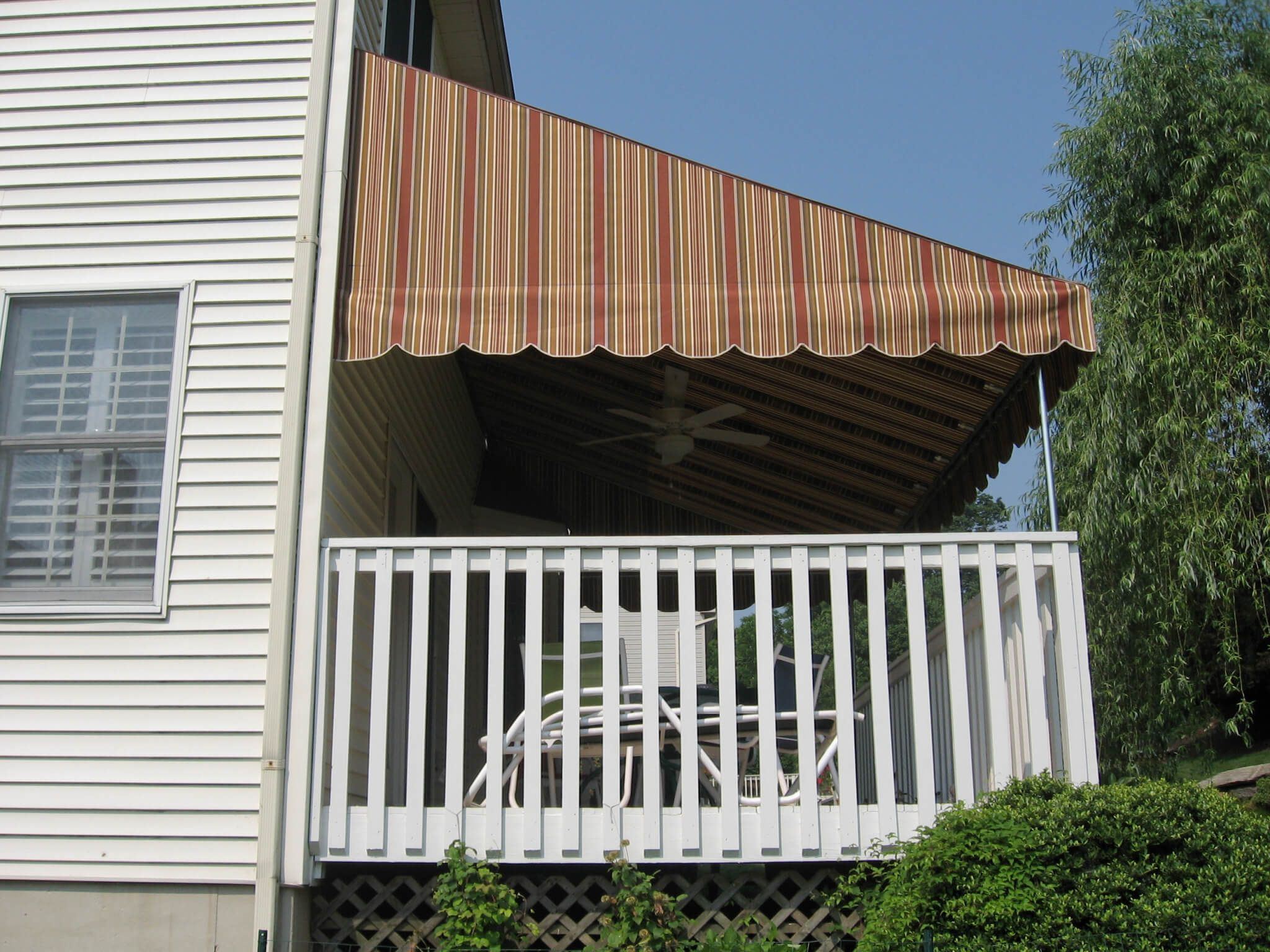 stationary awning roof decks the canopy pin required awnings for deck slope achieve mount to
