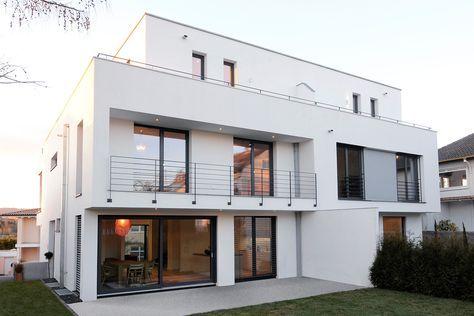 anspruchsvolles wohnen im st dtischen umfeld massivhaus im bauhausstil von kastell massivhaus. Black Bedroom Furniture Sets. Home Design Ideas