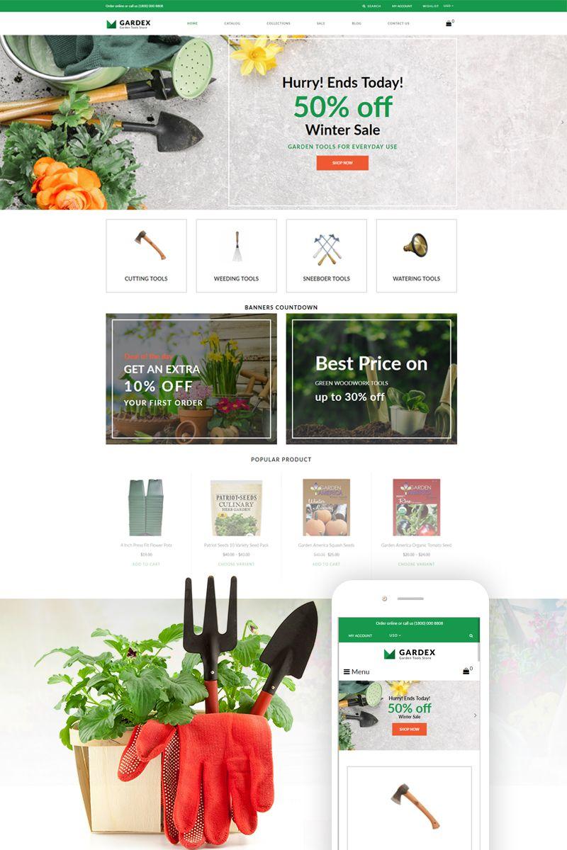 Gardex Gardening Clean Shopify Theme 77236 Flower Garden